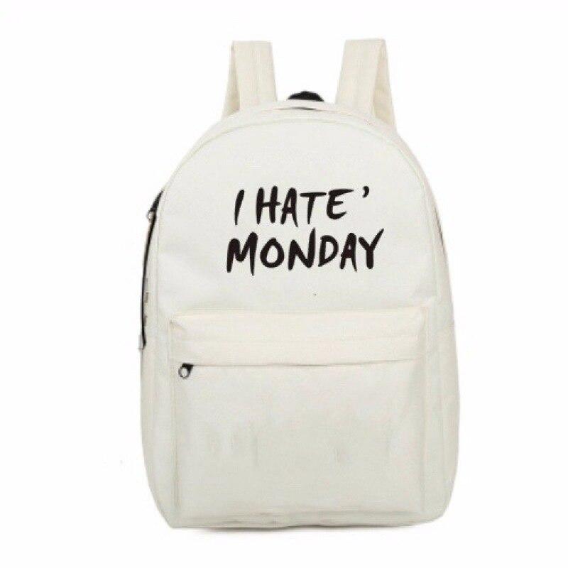 Casual Backpack Korean-style Simple Backpack WOMEN'S Bag Junior High School High School Schoolbag Men's Fashion Double Back