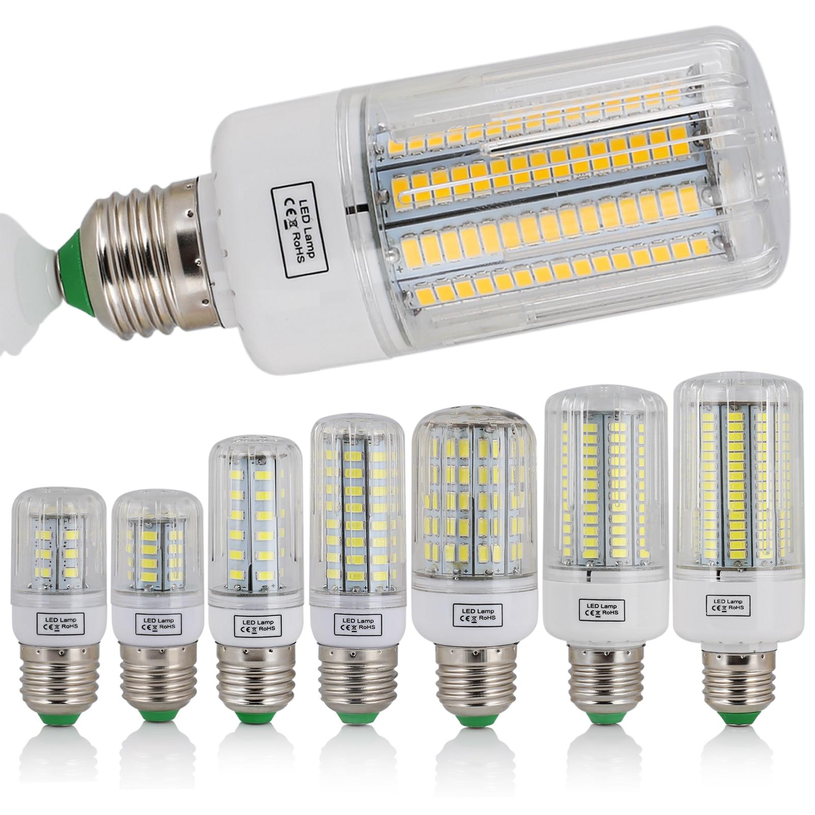 LED Corn Light Bulbs E27 Screw Base SMD 5730 7W 12W - 30W 45W Ultra Bright Home Chandelier Table Lamp 30 42 - 136 165LEDs 220V