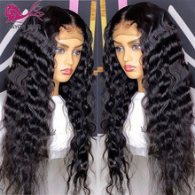 EAYON Deep Wave Silk Base Scalp Top 5x5 Closure Wig 180 Density Remy Brazilian 13x6 Lace Frontal Human Hair Wigs Glueless(China)