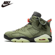 Original Air Jordan 6 Black Infrared Basketball Shoes RETRO CNY Sport Sneaker TS Green(China)
