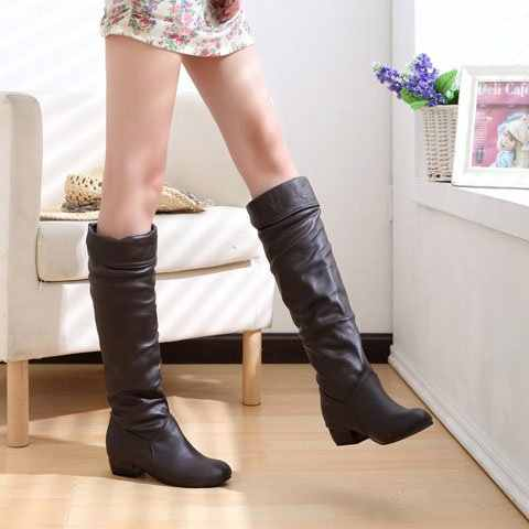 Slim Boots Sexy Over The Knee High Suede Women Snow Boots Women's Fashion Winter Thigh High Boots Shoes Woman dfv67