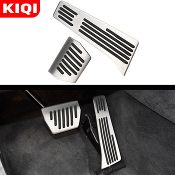 Car Aluminum Foot Rest Pedals Set Car Pedals Cover Fit for BMW 3 Series New 1 Series X1 M3 E30 E36 E39 E46 E87 E90 E91 E92 E93 image