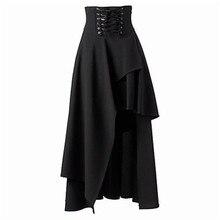 Women Skirt Medieval Ruffled Gothic Faldas Lace Multilayer Lolita Punk Retro Summer Court