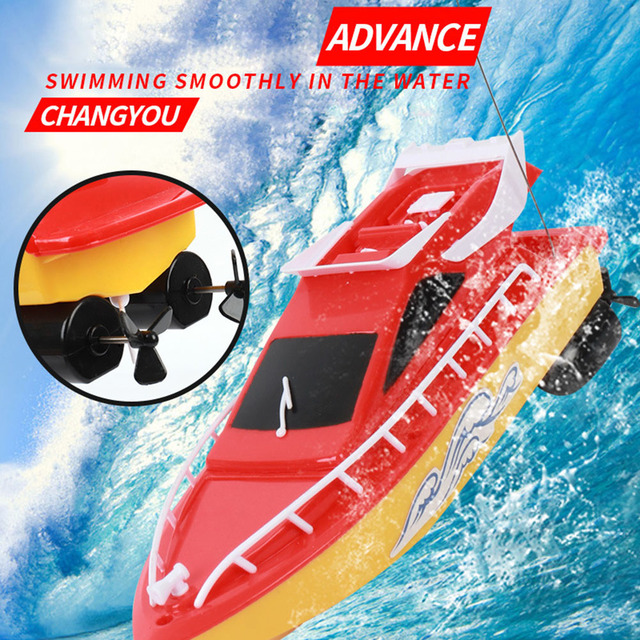 RC Boat Kids Toy Super Mini Speed Remote Control Ship 2 Colors 20M High Performance Electric Boats Toys For Children Barco Gifts 3