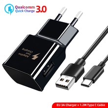 Type C USB Quick Charger Cable EU/US/KU Wall For Samsung Galaxy S9 S8 Plus  For Huawei P20 Pro Fast Charging Adapter USB C Cable цены