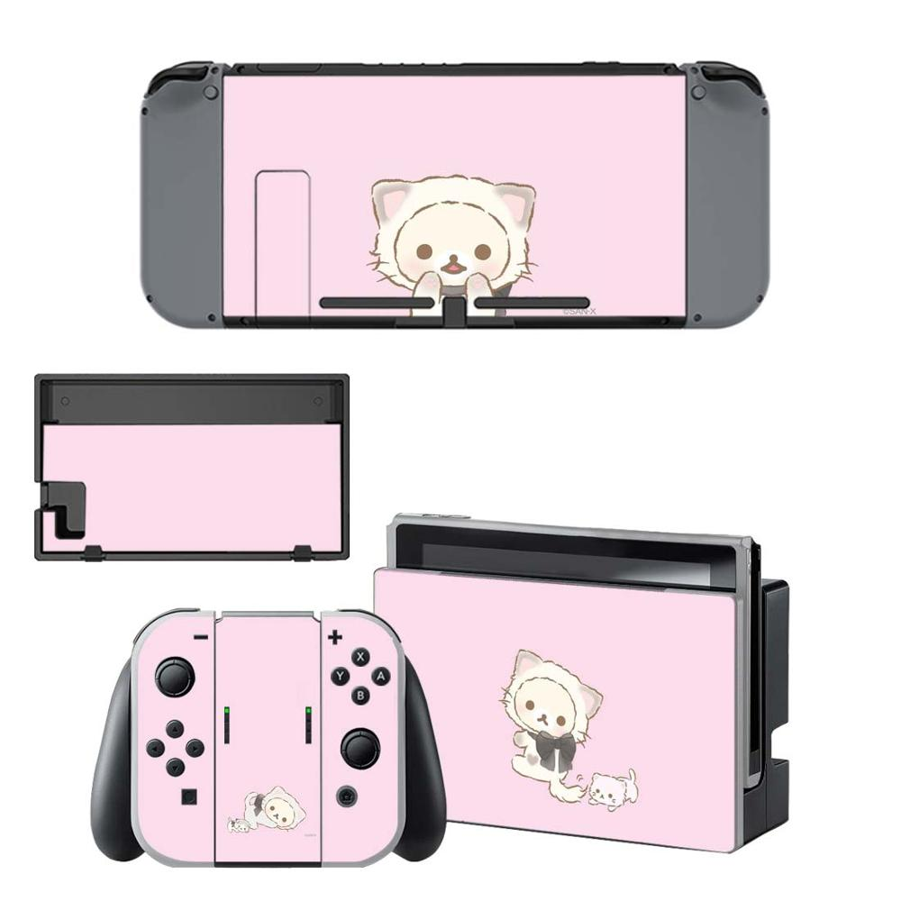 Kawaii Pink Bear Nintendo Switch Skin Sticker NintendoSwitch Stickers Skins For Nintend Switch Console And Joy-Con Controller