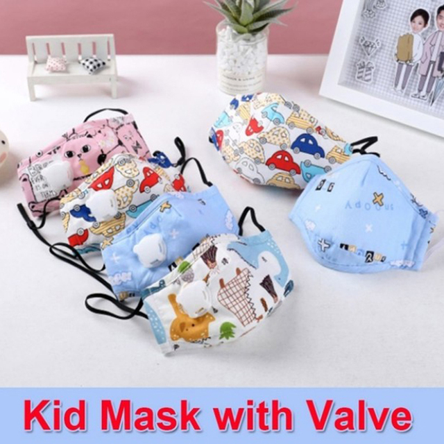 Cartoon Children PM2.5 Mouth Mask Kids Activated Carbon Breathable Mask Anti Dust Mouth-muffle Respirator Cotton Face Masks 2