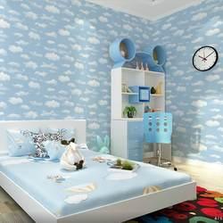 Специальное предложение голубое небо и белые облака детская комната потолочные обои Детский сад детские украшения для гардероба ПВХ