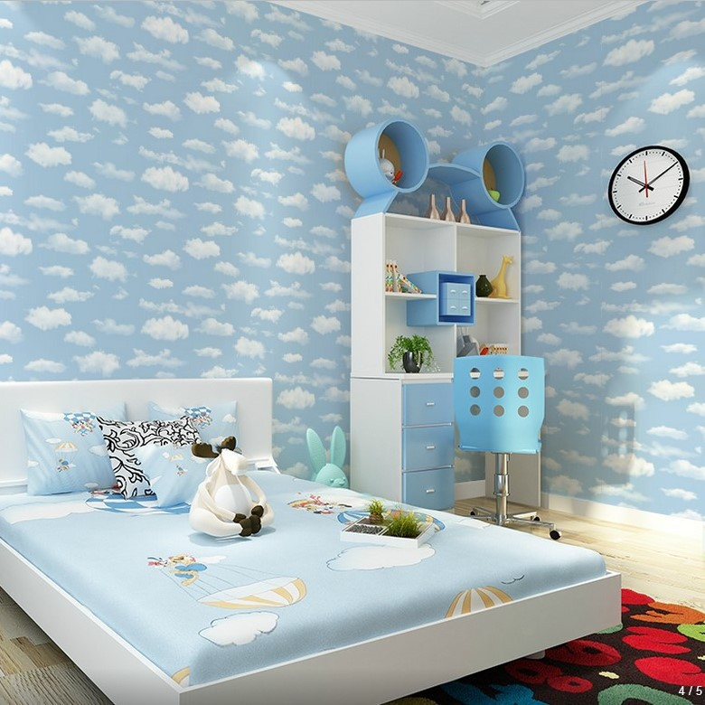 Special Offer Blue Sky And White Clouds CHILDREN'S Room Ceiling Wallpaper Kindergarten CHILDREN'S Clothing Store Decoration PVC