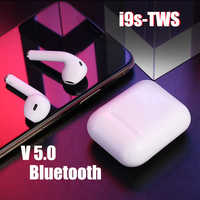 New i9S TWS Mini Wireless Bluetooth earphones Wireless Headsets Earbuds Bluetooth 5.0 earpieces For iPhone and all smart phonds