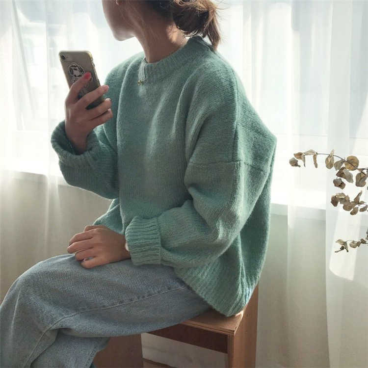 Colorfaith Новинка 2019 осень зима женские Свитера повседневные минималистичные топы Модный корейский стиль Вязание женские SW2872