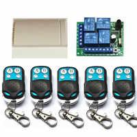 433 mhz interruptor de controle remoto sem fio universal dc12v 4 ch relé módulo receptor e 4 canais rf remoto 433 mhz transmissor