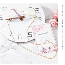 79cm Glasses Chain Thin Metal Strap Rope Lanyard Non Slip For Reading Glasses Anti Fall Necklace Chains Spectacles Beads Eyewear(China)
