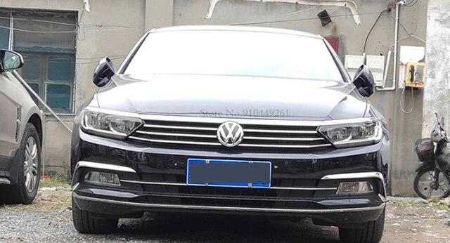 For Volkswagen Passat B8 Variant Arteon 2016-2020 Silver Black Exterior Headlight Eyebrow Cover Trims Front Light Lamp Frames 4
