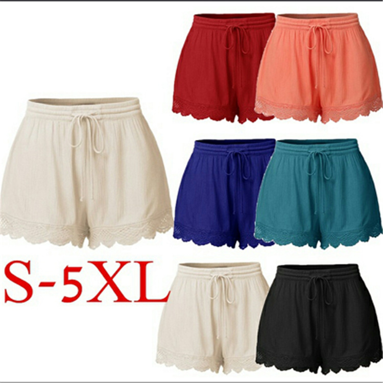 Shorts Women 2020 Summer Explosion Solid Color Lace Female Shorts For Woman's clothing YRW6936|Shorts| - AliExpress