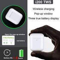 New i200 TWS 2 generation copy 1:1 mini Bluetooth headset wireless headset 6D subwoofer pk i10 i12 i30 i60 i80 i100 i500 tws