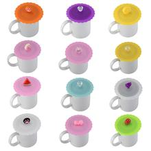 Silicone Lids For Tea Cup Cover Leakproof Anti-Dust Heat Resistant Reusable Sealed Bowl Glass Mugs Cap