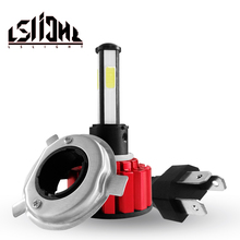 LSlight bombilla LED para faro delantero de coche, luz de diodo de luz Ice, H7 H4 9005 9006 H11 HB2 HB3 HB4, 6000K 9600LM 72W 12V 24V
