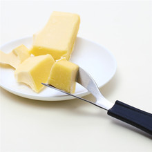 Stainless Steel Cheese Slicer Cheese Butter Knife Corner Cutter with Silicone Handle Cheese Cutter Scraper Kitchen Baking Tools camvate qr top cheese handle with 70mm nato rail