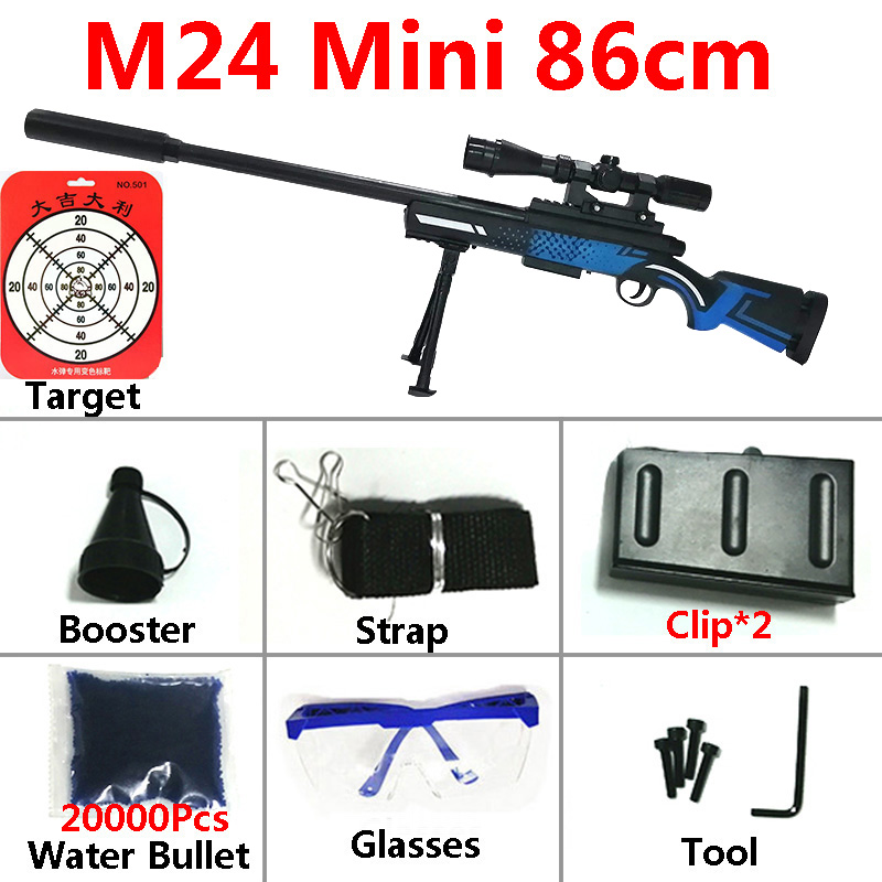 Image 4 - Toy Gun Sniper Rifle Kar98K AWM M24 Mini Airsoft Air Guns Safety Sight Water Bullet Shooting Boys Outdoor Toys Arms Weapon Gift-in Toy Guns from Toys & Hobbies
