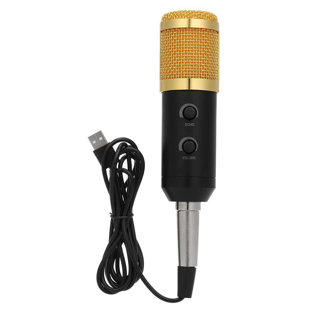 DV/_ Adjustable USB Microphone Computer Condenser Mic Home Studio for Desktop Cha