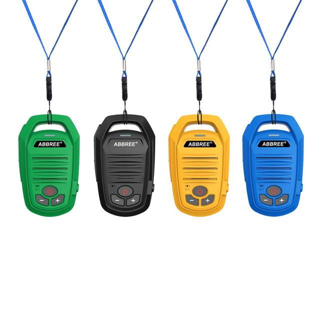 2pcs abbree ar-639 mini walkie tal
