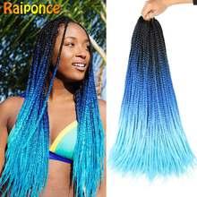 Raiponce – Extension de cheveux synthétiques au Crochet ombré, 22 racines/paquet de tresses au Crochet pour tresses africaines