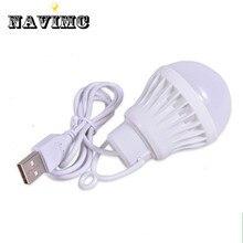 Разноцветные ПВХ 5 Вт лампочка USB свет портативный светодиодный светильник для похода кемпинга палатки путешествия работы с power Bank ноутбук