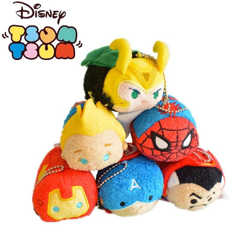 Disney Tsum Marvel Мстители Халк Человек-паук экран протрите плюшевый кулон милые куклы Изысканные Подарки детская игрушка