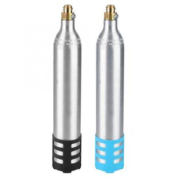 цена на 0.6L Soda Maker Refillable Soda Bottle Spare Reusable CO2 Cylinder Accessory for Soda Machines