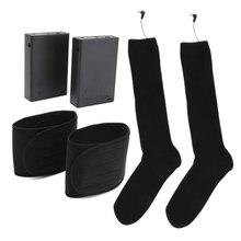 Men Women Winter Warm Electric Heating Socks Battery Operated Heated Long Socks