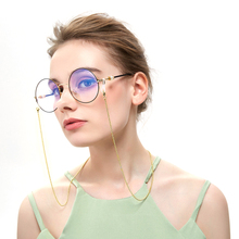 New Fashion Round Bead Glasses Chain Alloy Sunglasses Lanyard Strap Eyeglass Frames Beads Overall Length 70cm No Glass