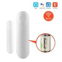 Lithium Battery WIFI Window Door Sensor Security Wireless Smart Gap Sensor Open Door Alarm Notification Alerts Support TUYA|Sensor & Detector|   -