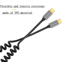 Spiral Coiled USB 3.1 C-TYPE male to USB 3.1 C-TYPE male ada