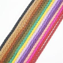 Alta qualidade 5 metros/lote falso camurça de couro trançado beading corda fio diy acessórios 16 cores para escolher ds234