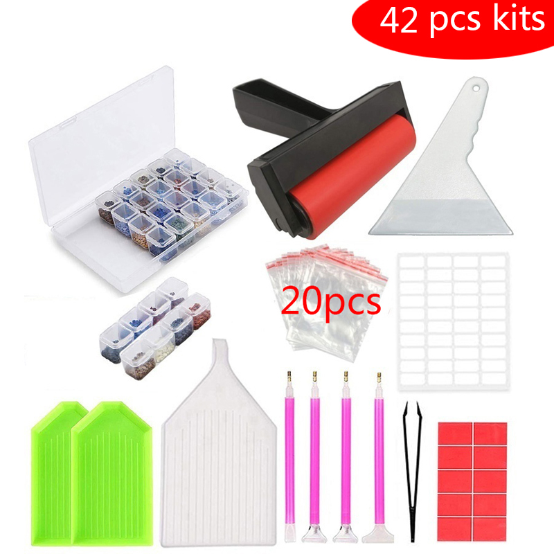 5D Diamond Painting Tools and Accessories Kits 28 Girds Slots Diamond Embroidery Storage Box for Adults or Kids