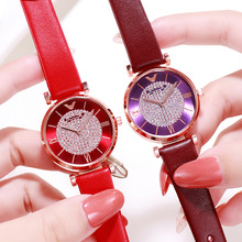 Luxury Brand Elegant Ladies Women Watches 2019 White Leather Strap Quartz Wristwatch Fashion Watch for Dress Clock