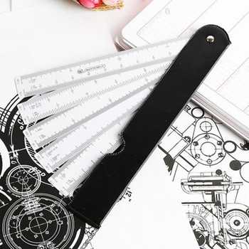 Butterfly Fan Shape Architects Scale Ruler Foldable Rulers With 5 Blades For Architect Graphics Design Multi Ratio Measure - discount item  41% OFF Drafting Supplies