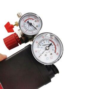 Image 4 - Válvula de controle de pressão, regulador ac de 240v, bomba compressora de ar resistente, interruptor de controle de pressão de 4 portas, válvula de controle de bomba de ar 90 120psi com medidor de calibre,