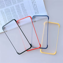 Ultra Slim Matte Frameless สำหรับ iPhone XS Max XR X Clear Candy Color Case สำหรับ iPhone 6 6S 7 8 Plus Hard PC ปกหลัง(China)