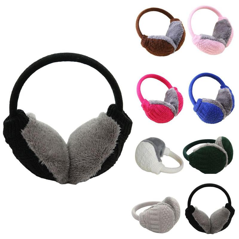 Women Earmuffs Winter Warm Cotton Thick Plush Ear Muffs Female Outdoor Washable Keep Warm Oorwarmers Ear Warmer Cache Oreille