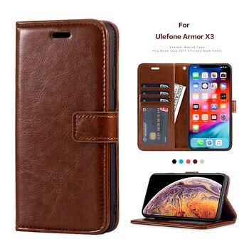 Чехол-книжка из искусственной кожи для Ulefone Armor X3, держатель для карт, силиконовая фоторамка, чехол-кошелек для Ulefone Armor X5, деловой чехол