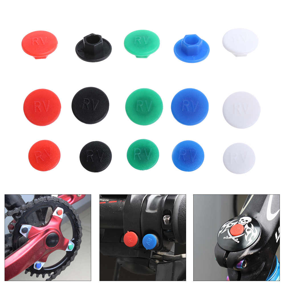 Gadget Dustproof Bike Accessories Bolt Cover M5//M6  Hexagon Screw Cap