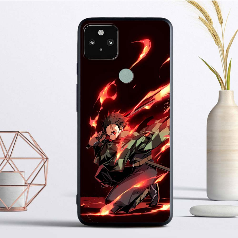 Demon Slayer Luxury Phone Case For Google Pixel 4 XL Fandas For Pixel 5 4A 4G 4A 5G Soft TPU Coque Back Cover Casing Luxury Capa