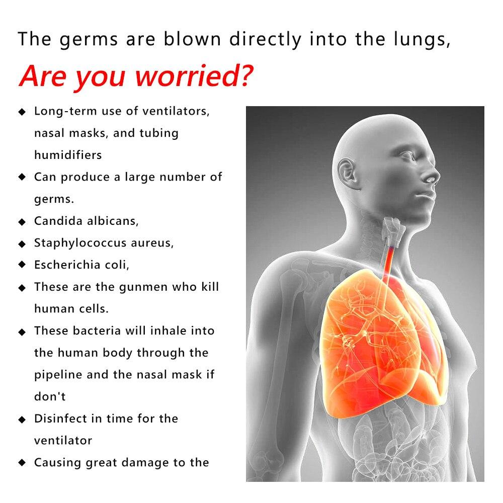 Purificador de ar respirador desinfecção máquina cuidados