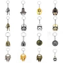 Movie Collections Key Chains Star Wars Keychain Spaceship Yoda Robot Darth Vader Storm Trooper Key Ring Trinket JEWELRY