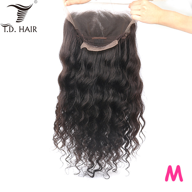 TD Hair Loose Wave Remy Wig Natural Black 13x4 Transparent Lace Wigs 180% Density Winter  Front Wig Middle Ration 10-30 Inches