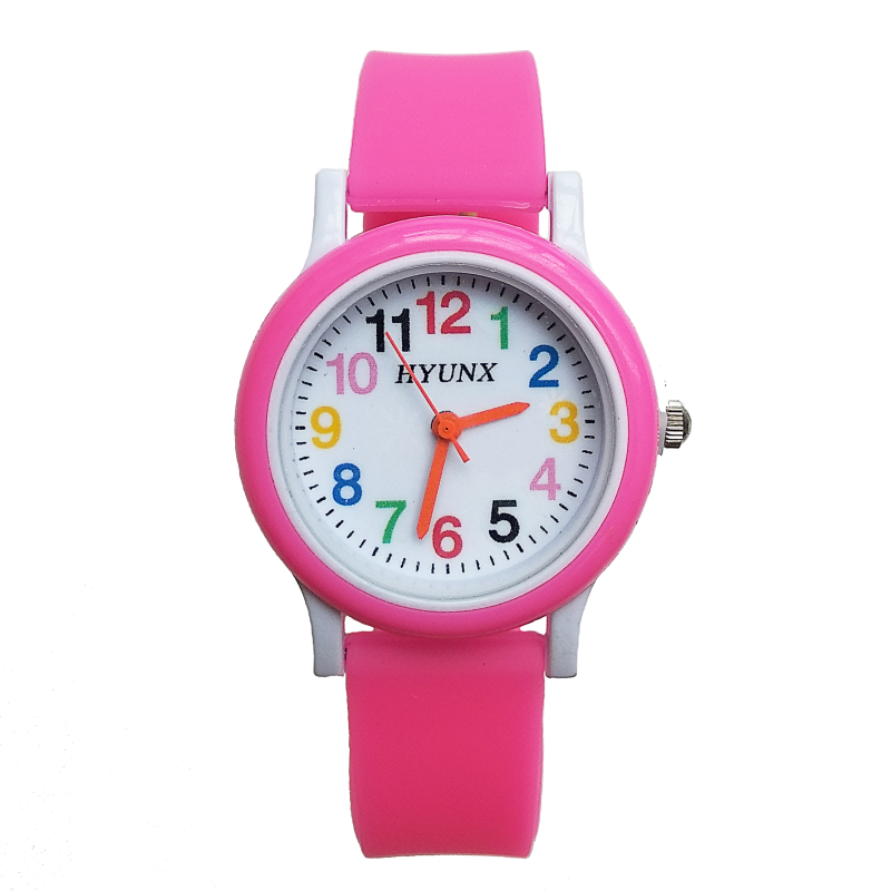 2019 New Arrival Children Quartz Watch Silicone Band Solid Color Digital Kids Watches Boy Girl Christmas Gift Electronics Watch