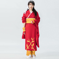 Girls Kimono Dress Japanese Anime Cosplay Costumes long Fancy Oriental Yukata Woman halloween Party Clothing