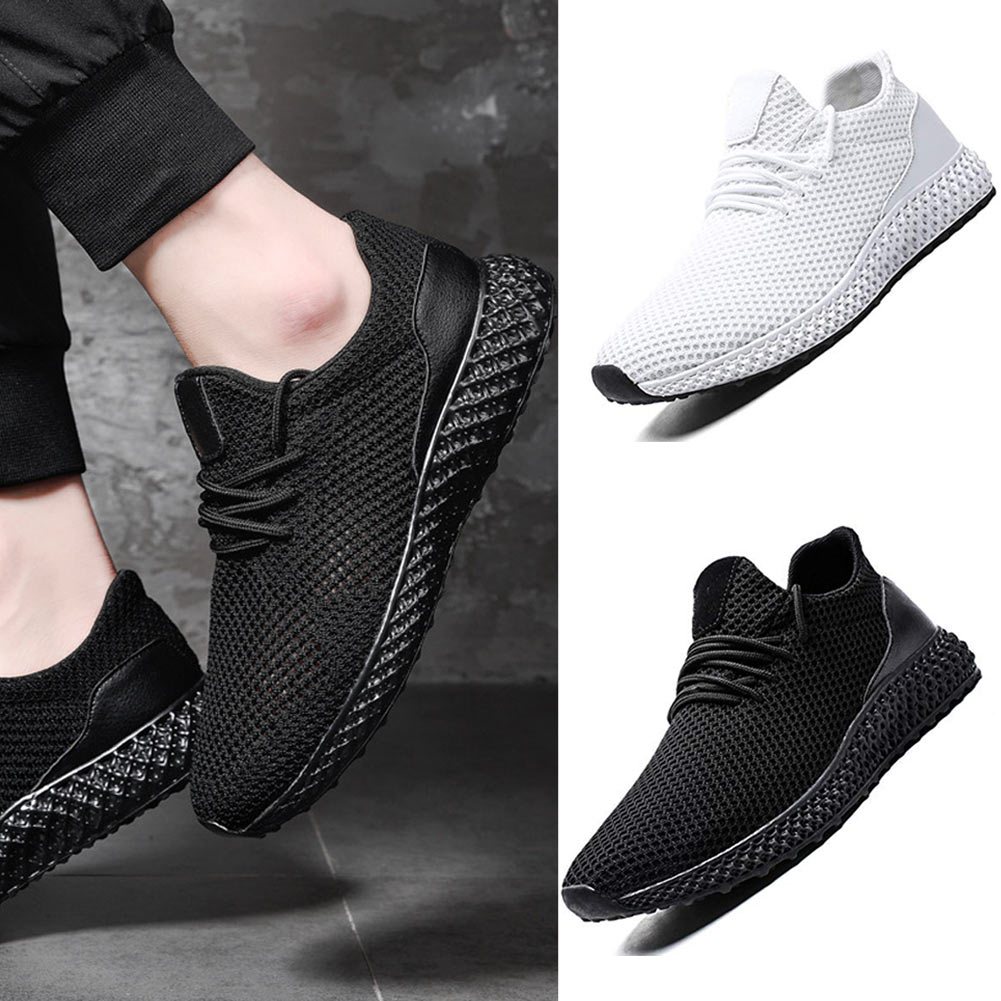 Mens Running Mushroom Shoes Fashion Breathable Sneakers Mesh Soft Sole Casual Athletic Lightweight